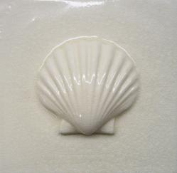 "Scallop Bas-Relief 12"" x 12"" Tile"