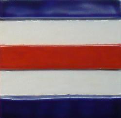 Nantucket signal flag tile, hand made signal flag tile letter C, Nantucket signal flag tile letter C