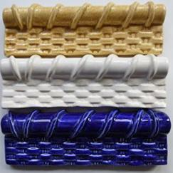 basket weave, chair rail, trim tile, basket weave with rope top, Nantucket lightship basket tile