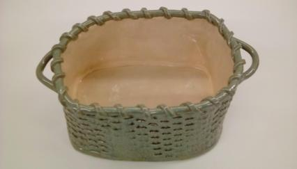basket weave ceramic, basket weave ceramic bowl, made on Nantucket