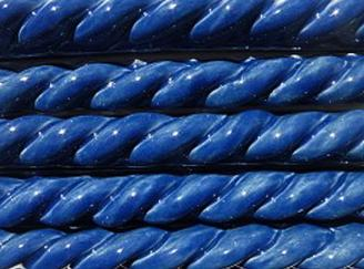 Nantucket Blue rope tiles, hand made ceramic rope trim, made on Nantucket ceramic blue rope trim