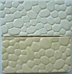 cobblestone tile, cobblestone ceramic tile, nantucket cobblestone ceramic tile, made on nantucket, hand made tile made on Nantucket cobblestone 3x6 subway tile