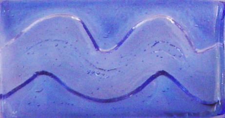 """Blue 2"""" x 4"""" Glass Wave Tile"""