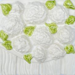 hydrangeas, hydrangea tile, Nantucket hydrangeas, Nantucket hydrangea tile, hand made tile