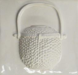 Nantucket Lightship basket white, Nantucket Lightship basket tile, hand made Nantucket lightship basket tile