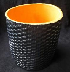 basket weave ceramic, basket weave ceramic vessel, ceramic vessel, made on Nantucket, Nantucket ceramics, Nantucket TileMakers