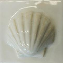 Nantucket Scallop tile, hand made ceramic scallop tile, hand made ceramic Nantucket Scallop tile