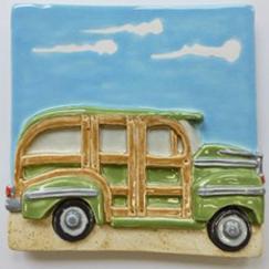 woody station wagon, woody station wagon tile, Nantucket woody tile