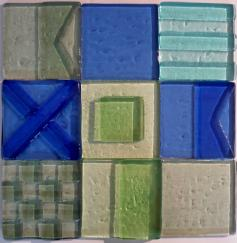 sea glass signal flag tile, signal flag glass tile, glass tile, tropical color glass tile