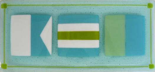 ACK Butler Tray in Tropical Blues and Greens