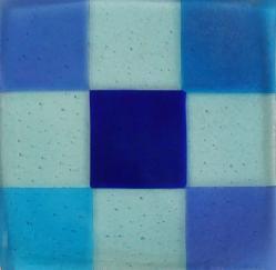 Irid Checkerboard Plate