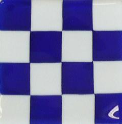 "Signal Flag ""N"" Tile, glass tile, signal flag glass tile"