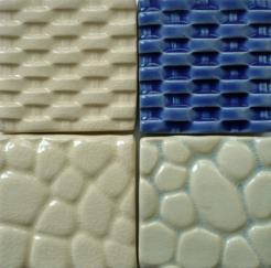 pebble tile, basket weave tile, tile inserts, Nantucket basket weave tile