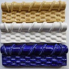 basket weave ceramic chair rail, Nantucket basket weave ceramic chair rail, hand made 2x6 basket weave chair rail, 2x6 hand made chair rail