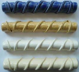 nantucket lightship basket trim tile, hand made tile Nantucket, Nantucket TileMakers basket top weave trim