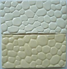 cobblestone tile, cobblestone ceramic tile, nantucket cobblestone ceramic tile, made on nantucket, hand made tile made on Nantucket cobblestone 3x6 subway tile