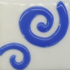 Blue Glass 2 Spiral Tile