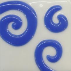 Blue Glass 3 Spiral Tile