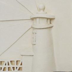 Brant point tile, Nantucket Brant Point lighthouse tile, hand made Nantucket brant point lighthouse tile