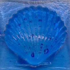 Blue Scallop Tile