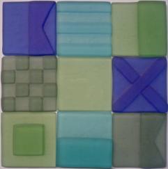 sea glass tile, signal flag sea glass tile, sand-blasted tile, signal flag, tropical color glass tile