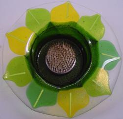 Sunflower Ikebana, glass ikebana, Nantucket ikebana, made on Nantucket,